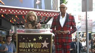 Jane Fonda honored RuPaul at his Hollywood Walk of Fame Ceremony