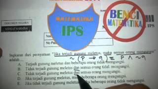 Logika Matematika- Pembahasan soal MATEMATIKA IPS 2014 No.1