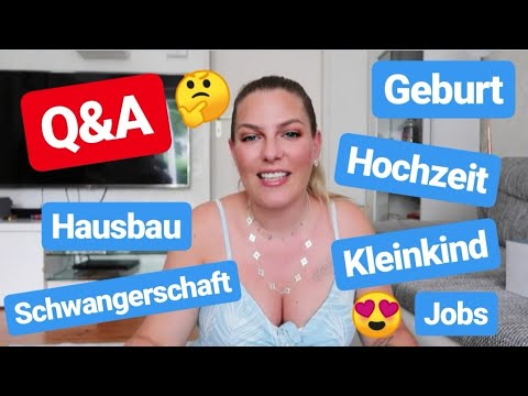 Q&A ♡ Geburt, Hochzeit, Hausbau, Beauty, Unsere Jobs, Kleinkind,... thumbnail