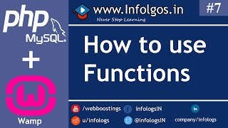 PHP - Use of Function in PHP - Tutorial 7
