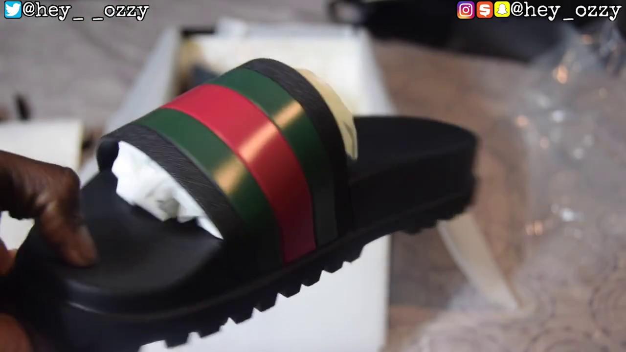 0396b68c927 Gucci Flip Flops Review + On Feet Review (Gucci Web Slide Sandals ...