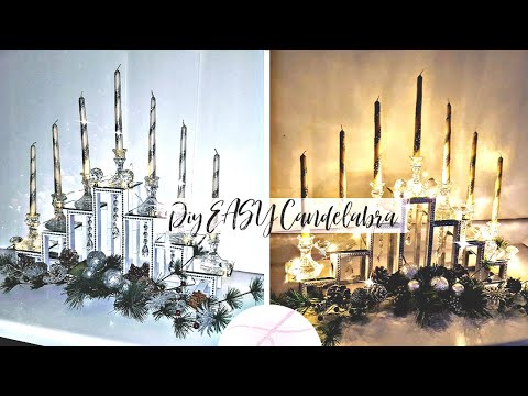 DIY Candelabra + Giveaway | Dollar Tree + items | DIY Candle Holder | DIY Room Decor | Centerpiece