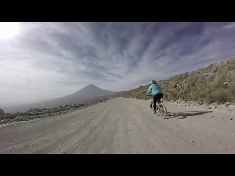 Mountain biking at the Pichu Pichu volcano in Peru