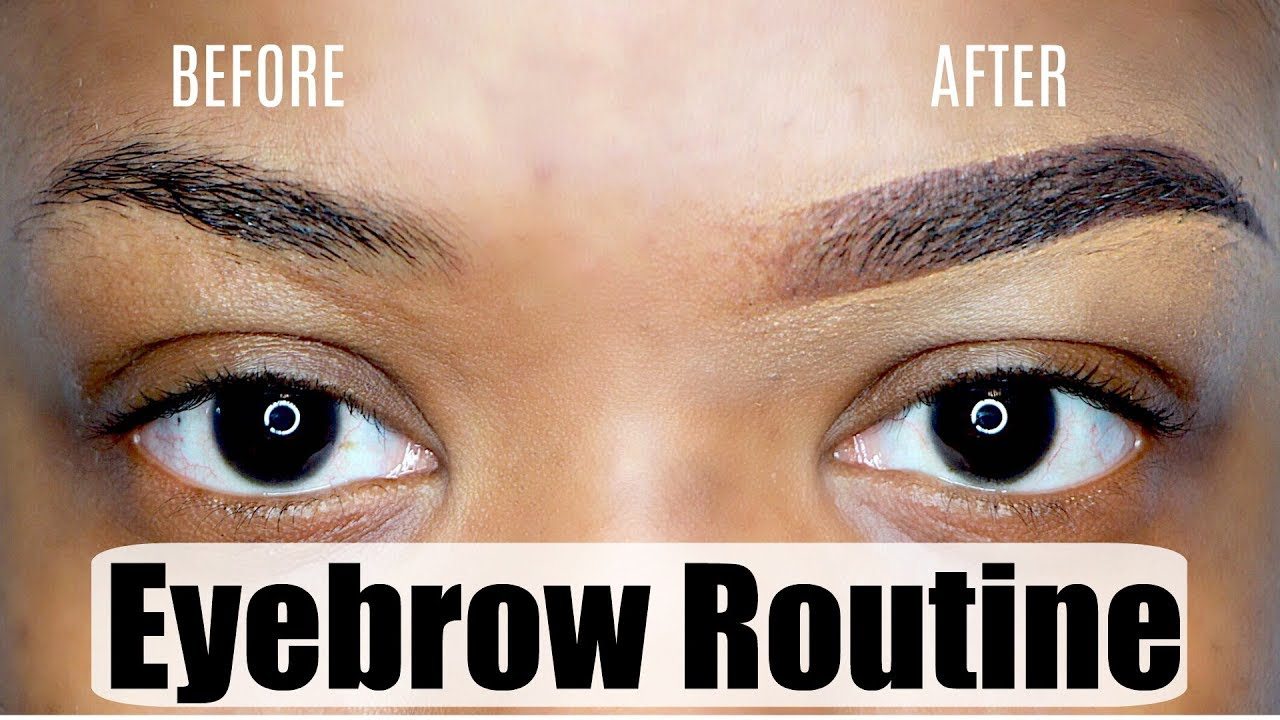 EYEBROW ROUTINE   HOW TO FILL IN YOUR BROWS STEP BY STEP ...