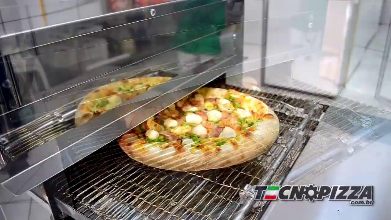 Forno para pizza de Esteira