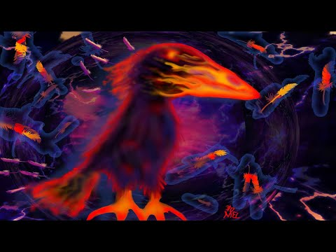 Painting a fire bird in Ibis Paint X