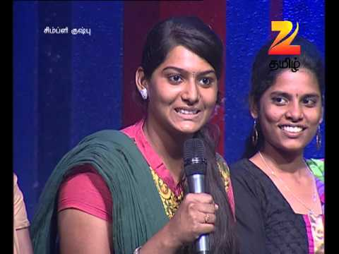 Simply Kushboo - Tamil Talk Show - Episode 22 - Zee Tamil TV Serial - Webisode