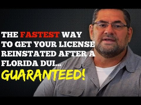 Florida FR44 Insurance - Reinstating Your Drivers License