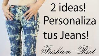 DIY 2 Ideas para personalizar tus jeans (ACID WASH - TIE-DYE) Thumbnail