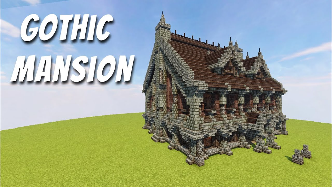 Minecraft How To Build Gothic Mansion Tutorial Youtube