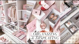 HOW I ORGANIZE AND DISPLAY MY ACCESSORIES! JEWELRY, SHOES, WALLETS AND WATCHES!💕