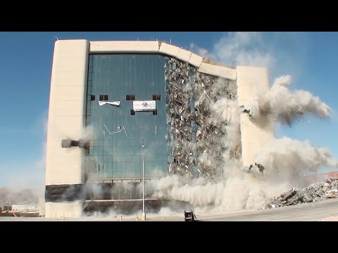 Extreme Fastest Building Demolition Compilation   Construction Demolitions With Industrial Explosive
