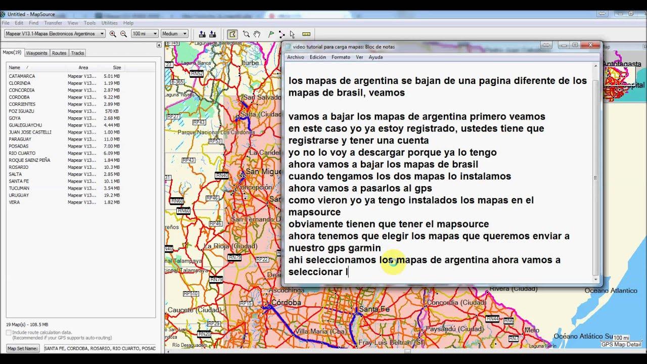 Cargar mapas de Argentina y Brasil al mismo tiempo a un GPS GARMIN