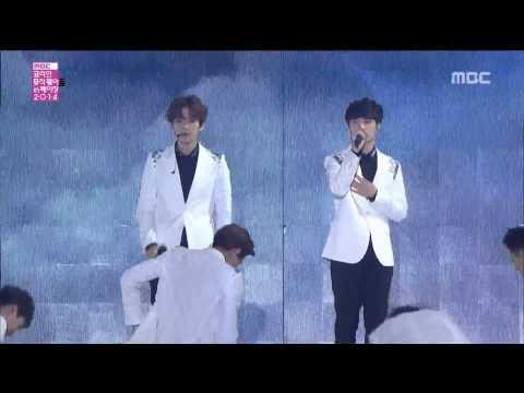 "Live HD | 141207 EXO ""인어의 눈물 (Baby Don't Cry) & 월광 (Moonlight) & 으르렁 (Growl)"" @ MBC 코리안 뮤직 웨이브 인 베이징"