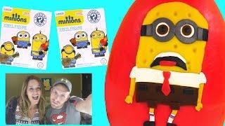 play doh spongebob squarepants inspired minions huge surprise egg blind box myster mini toys by dctc