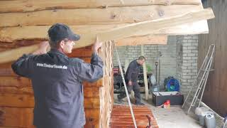 Gartenhaus Hütte Hobbithaus selber bauen (TimberTeam Bausatz)
