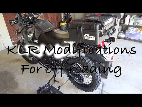 KLR upgrades for using the bike off road - YouTube