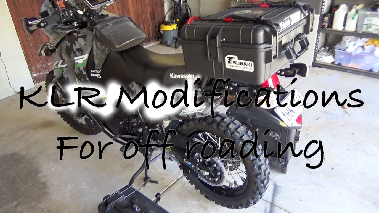 KLR upgrades for using the bike off road