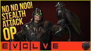 "Evolve Gameplay - Mr.Crow Trapper! ""NO,NO,NOOO STEALTH ATTACK OP!!!"" (Evolve Crow Gameplay)"