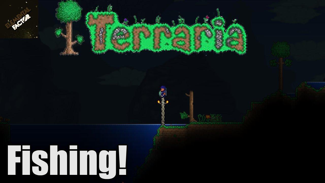 Fishing In Terraria Terraria 1 2 4 Update Youtube
