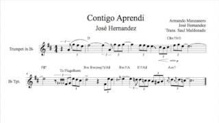 Contigo Aprendi: Jos� Hernandez Trumpet Solo Transcription