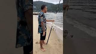 Quando o pescador não tem sorte kkkk