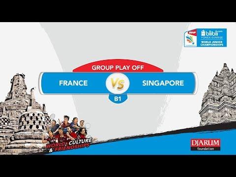 BLIBLI.COM WJC 2017 | GROUP PLAY OFF - B1 | FRANCE vs SINGAPORE | MD