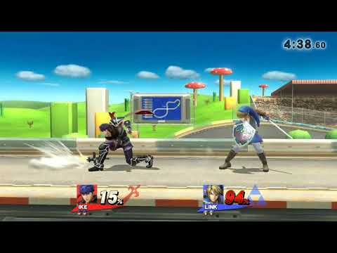Ike vs Link. Link ran away from Ike