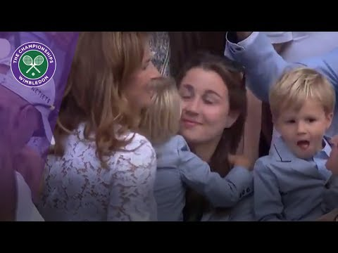Roger Federer gets emotional as children arrive on Centre Court after Wimbledon 2017 final