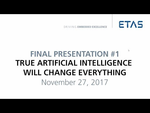 "ETAS Connections 2017: J Schmidhuber – ""True artificial intelligence will change everything"" [DE]"