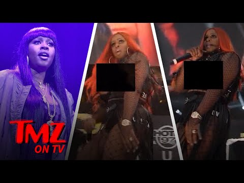 Remy Ma Has A Nip Slip While On Stage! | TMZ TV