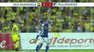 Bucaramanga vs Millonarios: resumen y goles del triunfo 2-1 del Bucaramanga Fecha 12 Liga Águila