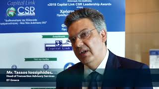2018 8th Annual Capital Link CSR Forum - Mr. Iossiphides Interview