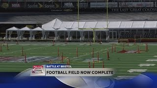 Crews complete the Battle at Bristol track to field transformation