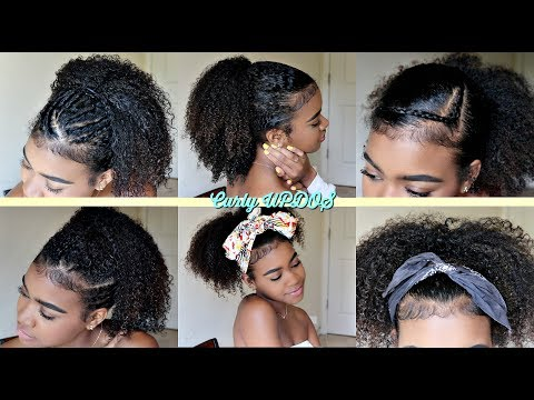 Cute & Easy Ponytails Hairstyles for Curly Hair