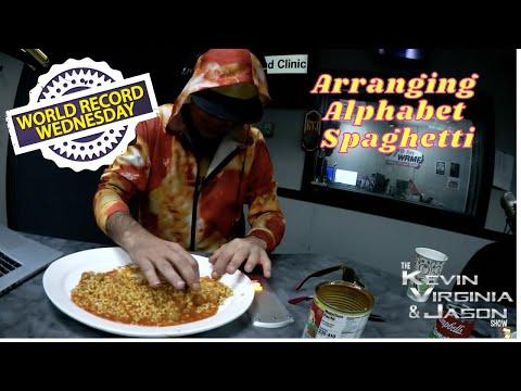 World Record Wednesday - Arranging Alphabet Spaghetti