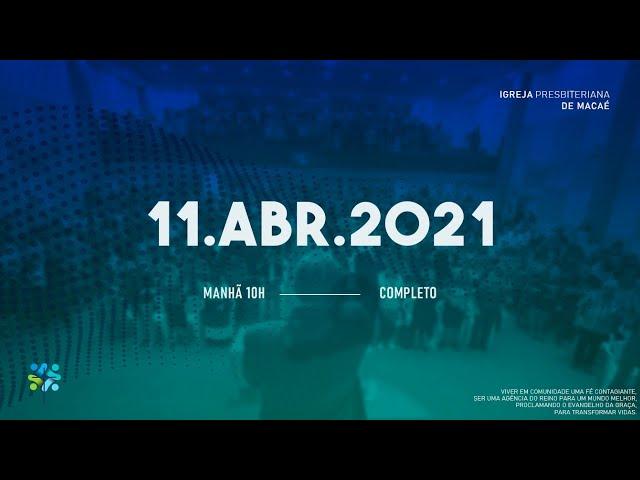 ESCOLA BÍBLICA DOMINICAL- 11/04/2021.