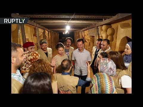الأسد وعقيلته يزوران نفق الموت في جوبر  - نشر قبل 9 ساعة