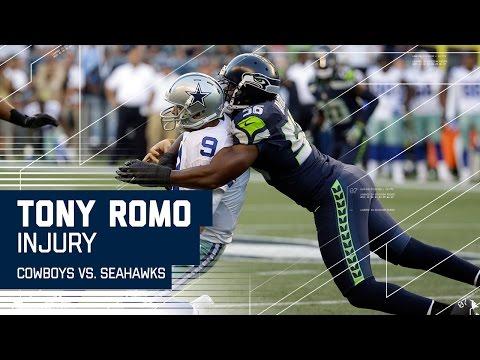 Tony Romo Goes Down with Apparent Back Injury   Cowboys vs. Seahawks (Preseason)   NFL