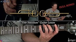 Fear Inoculum Guitar Lesson (Full Song) - TOOL
