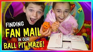 FINDING COOL FAN MAIL IN OUR BALL PIT MAZE | We Are The Davises