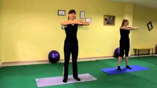 Быстро похудеть   Оксисайз Oxycize видео уроки упражнений онлайн, бесплатно разминка, руки и грудь,