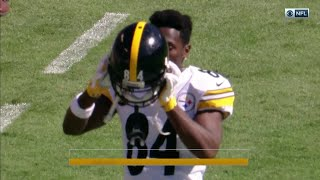 Angry Antonio Brown Tosses Cooler on the Sideline! | Steelers vs. Ravens | NFL Wk 4