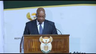 President Jacob Zuma presents Comprehensive Report on International Relations