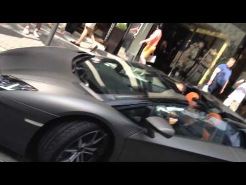 Supercar action in Frankfurt & camera fails and wins