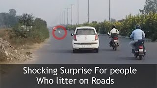 SURPRISE FOR PEOPLE LITTERING ON ROADS | TST Video thumbnail