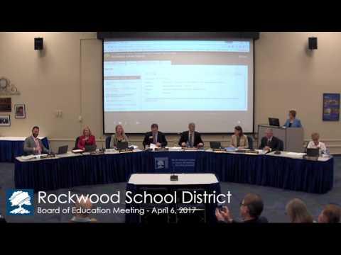 Rockwood School Board Reorganization Meeting 2017