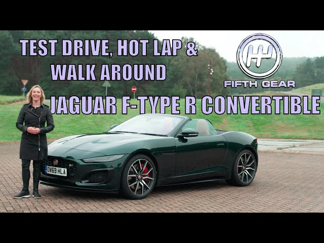 Jaguar F-Type R Convertible FULL Test Drive, Hot Lap & Walkaround | Fifth Gear