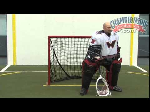 Indoor Lacrosse: Goaltending Technique And Drills