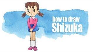 How to draw Shizuka step by step easy for kids.